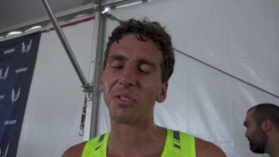 Tabor Stevens after USA steeplechase final