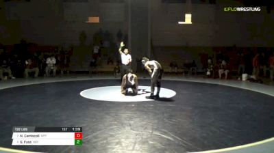 132 lbs Final - Nate Camiscoli, St. Peter's vs Gunnar Fuss, Harry S. Truman