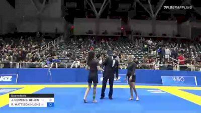 JULIA GOMES B. DE JESUS vs REBECCA MATTISON HUGHES 2021 World IBJJF Jiu-Jitsu No-Gi Championship