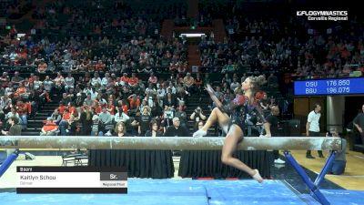 Kaitlyn Schou - Beam, Denver - 2019 NCAA Gymnastics Regional Championships - Oregon State