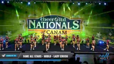 FAME All Stars - Midlo - Lady Crush [2021 L4 Senior - Medium Day 1] 2021 Cheer Ltd Nationals at CANAM
