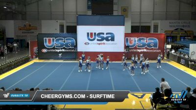 Cheergyms.com - SurfTime [2021 L1 Youth - Novice Day 1] 2021 USA Reach the Beach Spirit Competition
