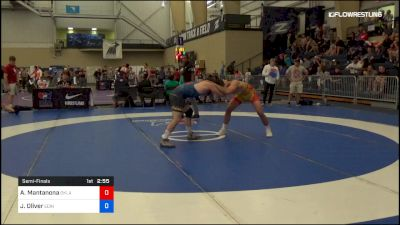 79 kg Semifinal - Anthony Mantanona, Oklahoma vs Jacob Oliver, Edinboro