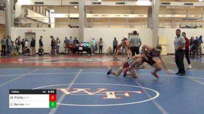 Prelims - Matt Fields, NC State vs Zachary Barnes, Unattached-Campbell