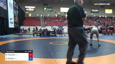 65 kg Cons 32 #2 - Ben Freeman, Michigan vs Blake McNall, MWA