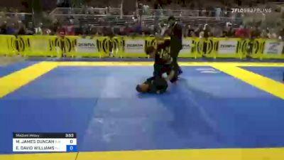 MICHAEL JAMES DUNCAN vs ELIJAH DAVID WILLIAMS 2021 Pan Kids Jiu-Jitsu IBJJF Championship