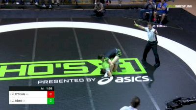 138lbs WNO Semis: Keegan O'Toole, Wisconsin vs Jaden Abas, California