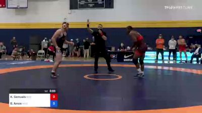97 kg Consolation - Kadeem Samuels, New York Athletic Club vs Braxton Amos, Wisconsin Regional Training Center