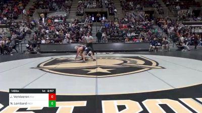 149 lbs Prelims - Jarod Verkleeren, Penn State vs Nick Lombard, Michigan