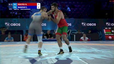 82 kg 1/8 Final - Radzik Kuliyeu, Belarus vs Edgar Babayan, Poland