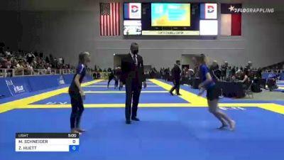 MANDY SCHNEIDER vs ZOEE HUETT 2021 World IBJJF Jiu-Jitsu No-Gi Championship