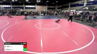74 lbs Rr Rnd 2 - Steve Islas, Tucson Cyclones vs James Oliver, Westlake WC