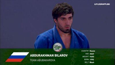 Abdurakhman Bilarov vs Erberth Santos Abu Dhabi World Professional Jiu-Jitsu Championship