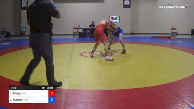 74 kg Cons 8 #1 - Isaac Judge, Cyclone RTC vs Jaden Mattox, Ohio State-Unattached