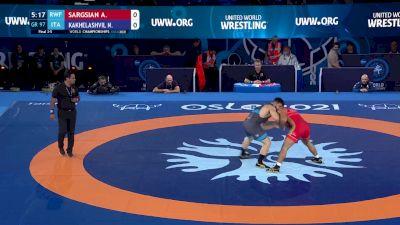 97 kg Final 3-5 - Artur Sargsian, Russian Wrestling Federation vs Nikoloz Kakhelashvili, Italy