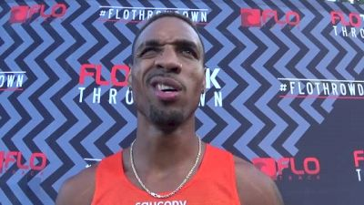 Duane Solomon after victory at FloTrack Throwdown 800m