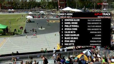 Men's 400m, Heat 11