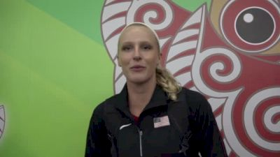 Vaulter Sandi Morris after finishing 4th at first World Champs
