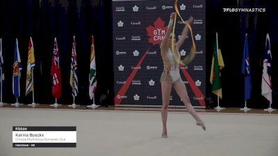 Karina Boeckx - Ribbon, Chinook Rhythmique Gymnastic Club