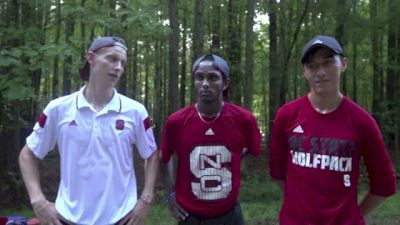 NC State's #1 Sam Parsons and top transfers after tough workout in Raleigh