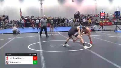 133 lbs Quarterfinal - Jarrett Trombley, NC State vs Dylan Koontz, Ohio State