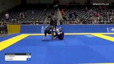 BRANDON STACEY vs KENJI SATO 2021 World IBJJF Jiu-Jitsu No-Gi Championship