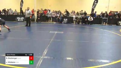 150 lbs Semifinal - Brennan Breisinger, Quaker Valley vs Jackson Mickens, Albert Gallatin
