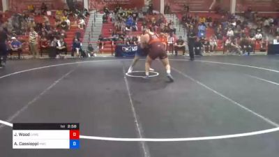 125 kg Semifinal - Jordan Wood, Lehigh Valley Wrestling Club vs Anthony Cassioppi, Hawkeye Wrestling Club