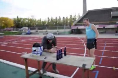 Corey Gallagher breaks beer mile world record