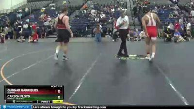 215 lbs Semifinal - Carson Floyd, North Carolina vs Gunnar Garriques, Illinois