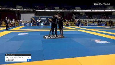 MAX LEON BICKERTON vs JACKSON SOUSA 2019 World IBJJF Jiu-Jitsu No-Gi Championship