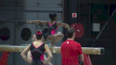 Simone Biles Full Beam Set, 2015 World Championships Training Day 1