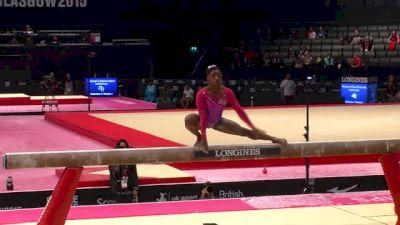 USA, Simone Biles, BB - 2015 World Championships Podium Training