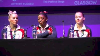 Simone Biles On Mental Break - Team Finals, 2015 World Championships