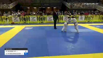 HARPER SLOANE HY vs AVA M RESURRECCION 2021 Pan Kids Jiu-Jitsu IBJJF Championship