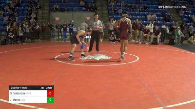 120 lbs Quarterfinal - Gabe Valencia, Perry vs Jeremiah Reno, Liberty