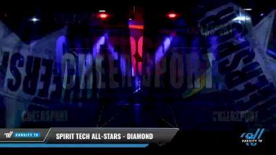Spirit Tech All-Stars - Diamond [2021 L2 Senior - D2 - Small Day 2] 2021 CHEERSPORT National Cheerleading Championship