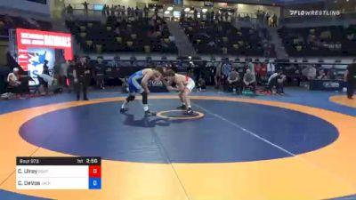 74 kg Semifinal - Clayton Ulrey, Southeast Regional Training Center, Inc vs Cade DeVos, Jackrabbit Wrestling Club
