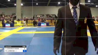 ALFONSO GERARDO MORIN JR. vs MARK LUEBKING 2021 American National IBJJF Jiu-Jitsu Championship