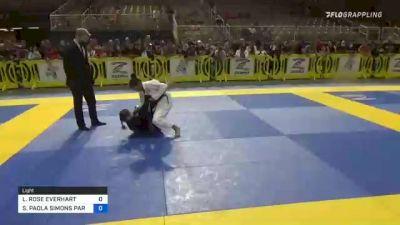 LIVIA ROSE EVERHART vs SOPHIE PAOLA SIMONS PARRA 2021 Pan Kids Jiu-Jitsu IBJJF Championship