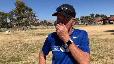 BYU Coach Ed Eyestone After WCC Win, Talks NAU vs BYU