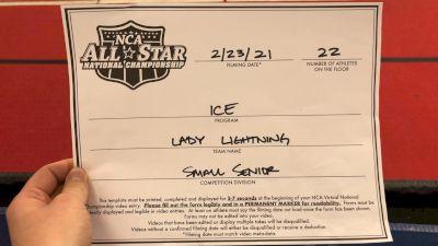ICE All-Stars - Lady Lightning [L6 Senior - Small] 2021 NCA All-Star Virtual National Championship