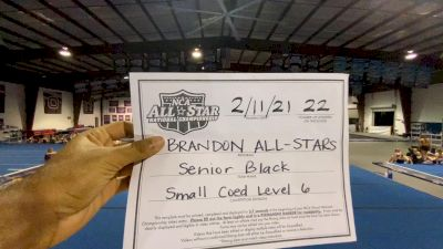 Brandon All-Stars - Senior Black [L6 Senior Coed - Small] 2021 NCA All-Star Virtual National Championship
