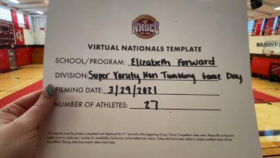 Elizabeth Forward High School [Virtual Super Varsity Non Tumbling Game Day Semi Finals] 2021 UCA National High School Cheerleading Championship