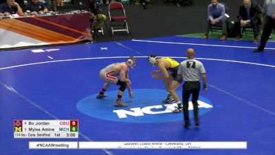 174 c, Myles Amine, Michigan vs Bo Jordan, Ohio State