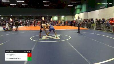 113 lbs Quarterfinal - Tristan Lujan, Ca vs Greg Diakomihalis, Ny