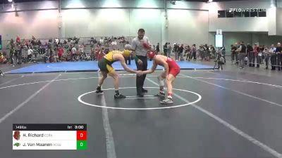 149 lbs Consolation - Hunter Richard, Cornell vs Jaden Van Maanen, North Dakota