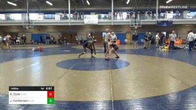 Consolation - Alec Cook, Clarion-Unattached vs Jalin Hankerson, Clarion