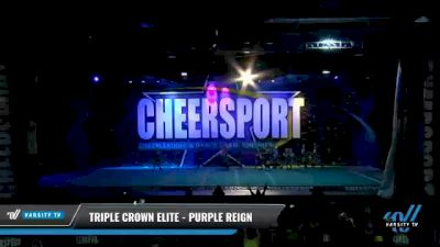 Triple Crown Elite - PURPLE REIGN [2021 L2 Youth - D2 - Small - B Day 2] 2021 CHEERSPORT National Cheerleading Championship