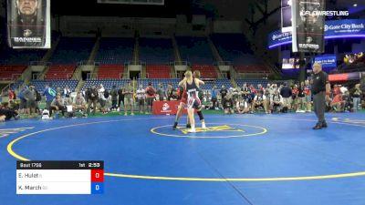 132 lbs Cons Semis - Ezekiel Hulet, Illinois vs Kellyn March, South Dakota